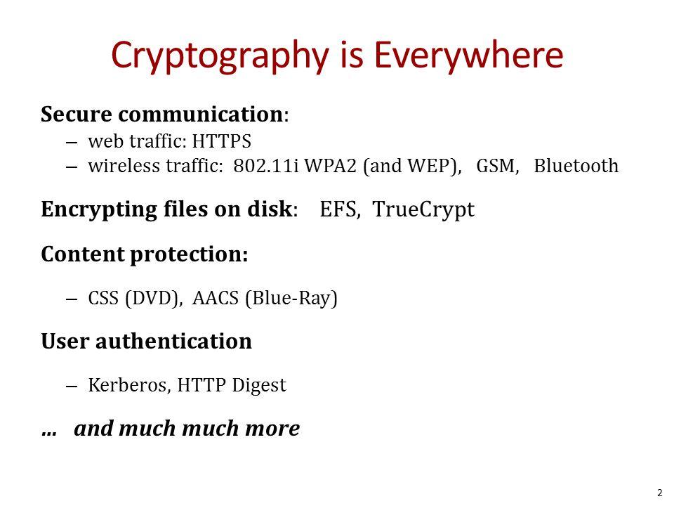 Symmetric Cryptography 13 k = k e = k d Everyone who knows k knows the full secret m keke c m or error c' AliceE BobD keke