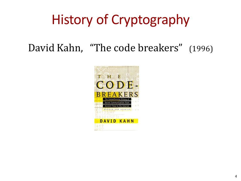 Caesar Cipher: c = m + 3 5 Julius Caesar 100 BC- 44 BC A B C D E F G H I J K L M N O P Q R S T U V W X Y Z