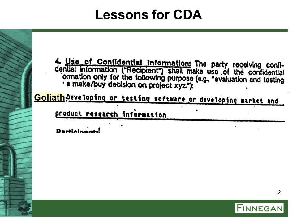 12 Goliath Lessons for CDA