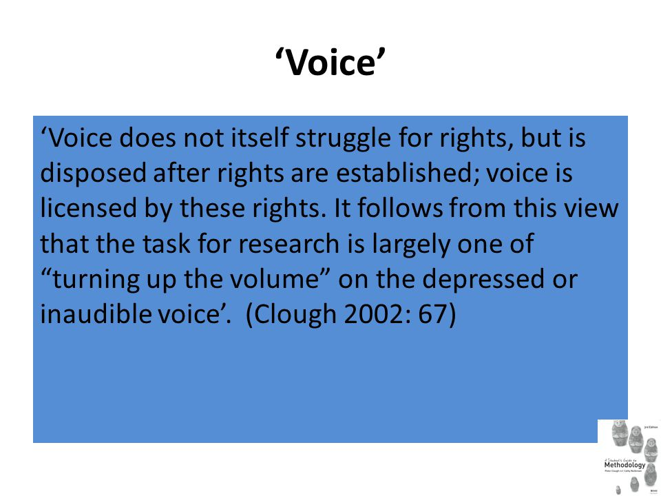 'Voice' 'Voice does not itself struggle for rights, but is disposed after rights are established; voice is licensed by these rights. It follows from t