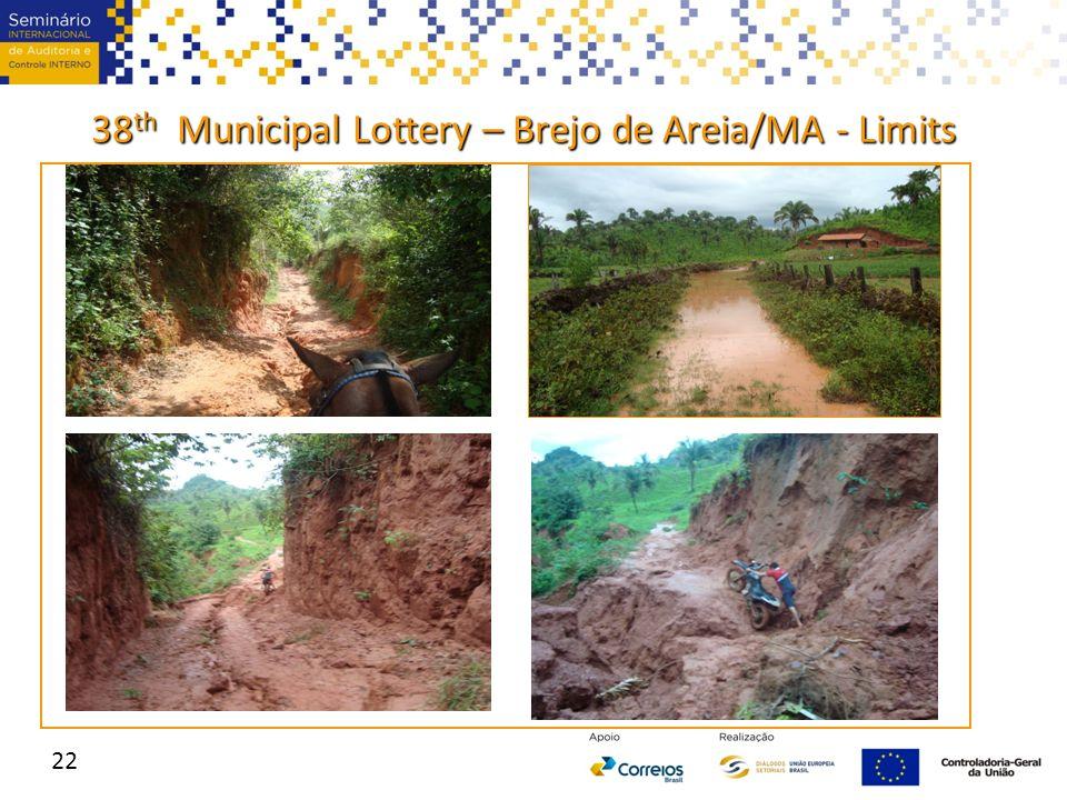 38 th Municipal Lottery – Brejo de Areia/MA - Limits 22