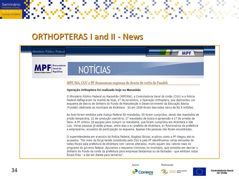 34 ORTHOPTERAS I and II - News