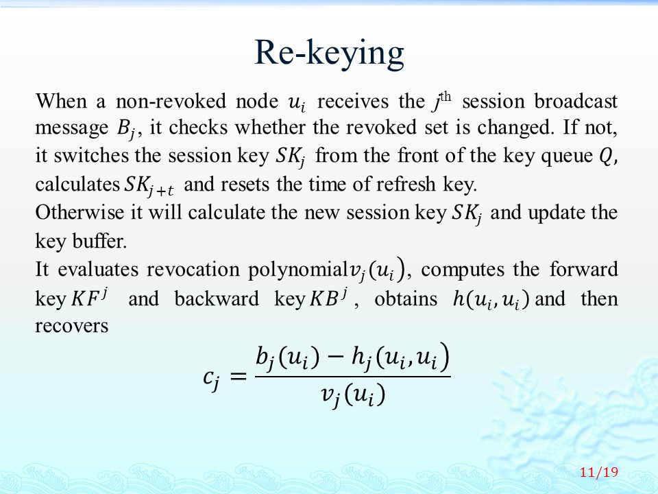 Re-keying 11/19