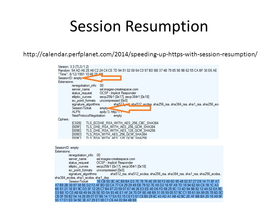 Session Resumption http://calendar.perfplanet.com/2014/speeding-up-https-with-session-resumption/
