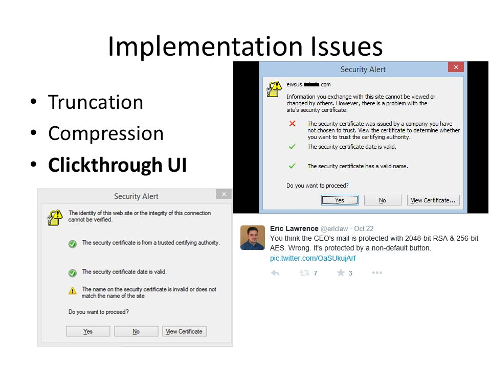 Implementation Issues Truncation Compression Clickthrough UI