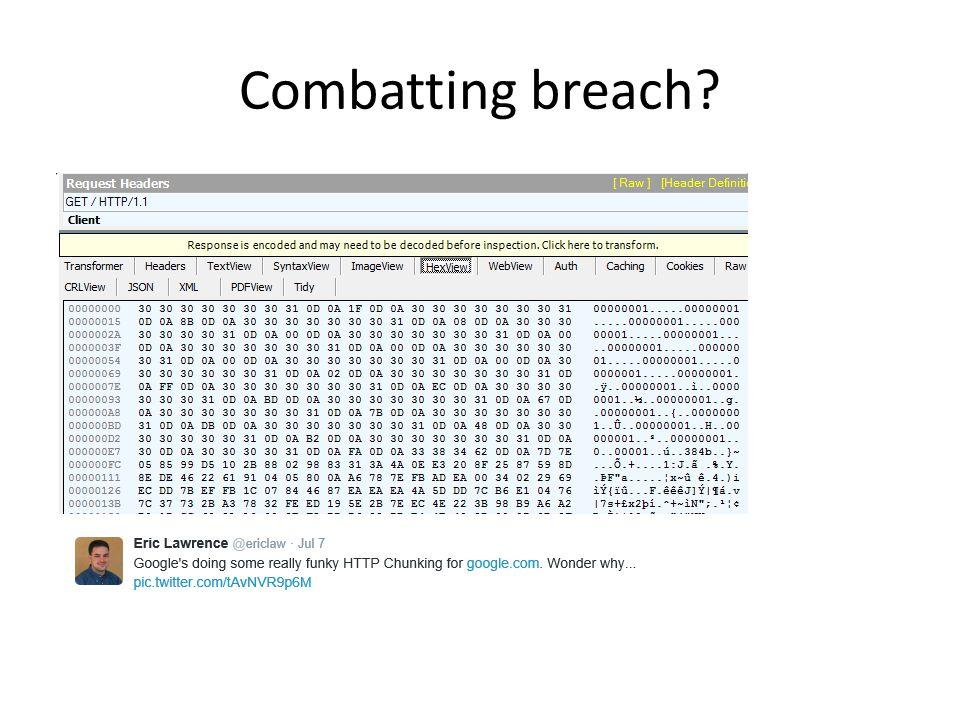 Combatting breach