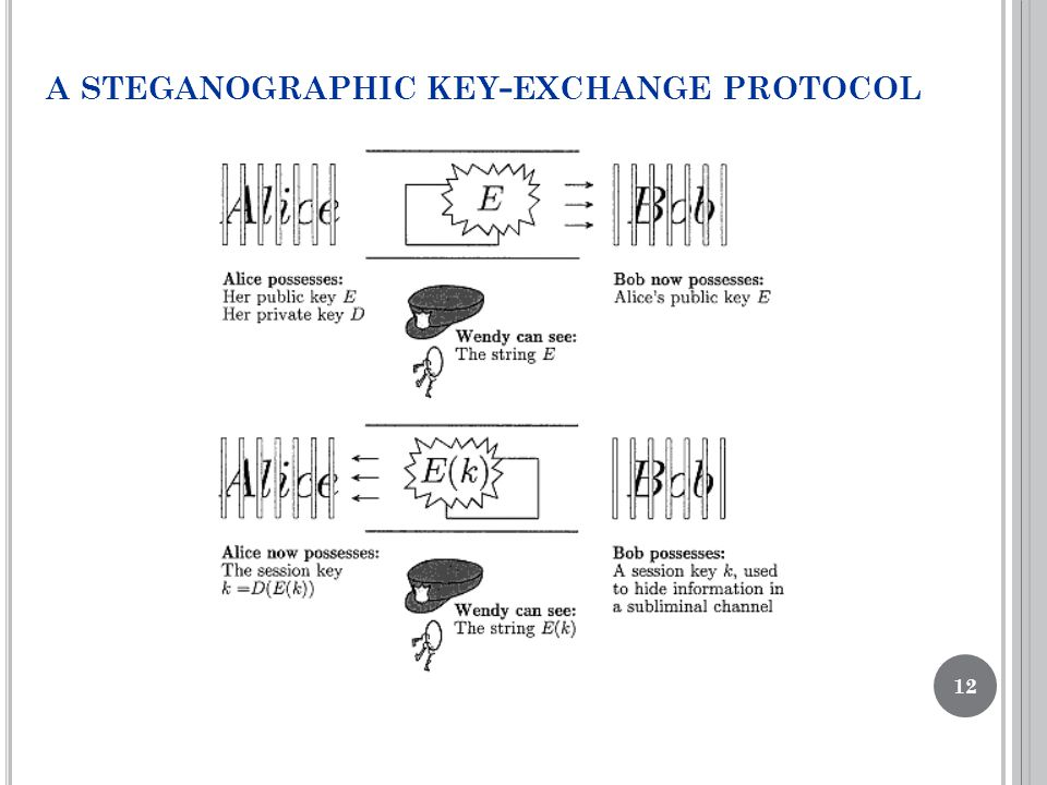A STEGANOGRAPHIC KEY - EXCHANGE PROTOCOL 12