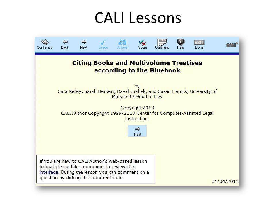 CALI Lessons