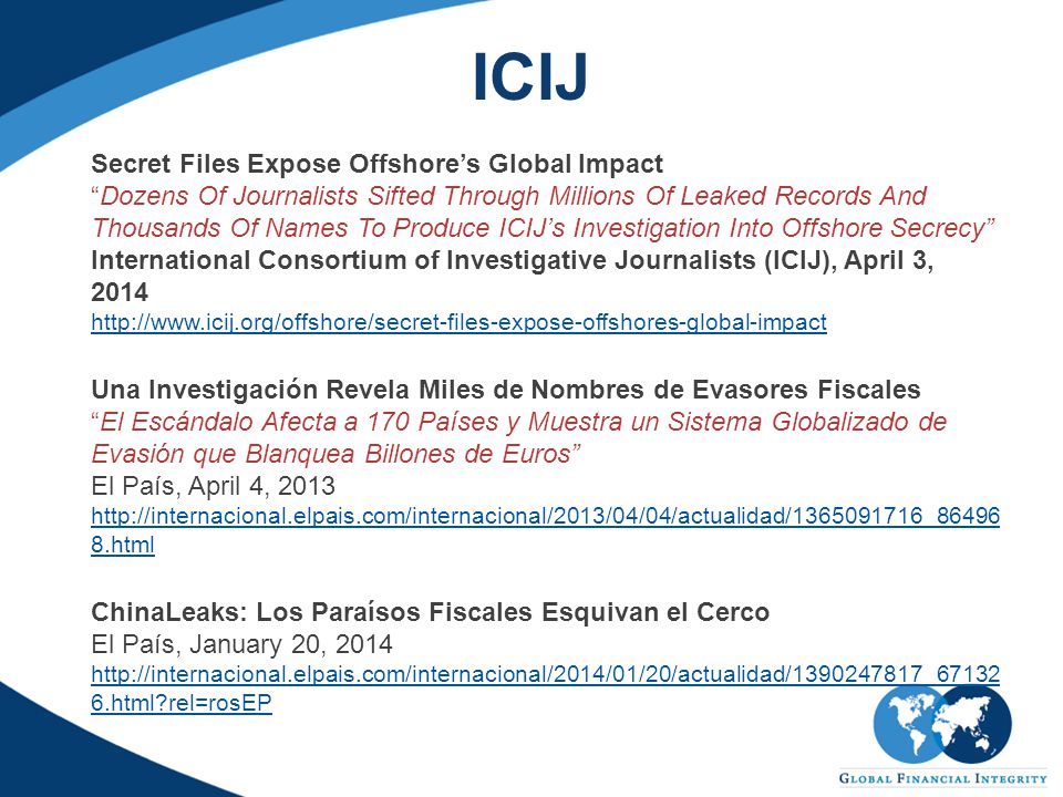 """ICIJ Secret Files Expose Offshore's Global Impact """"Dozens Of Journalists Sifted Through Millions Of Leaked Records And Thousands Of Names To Produce I"""