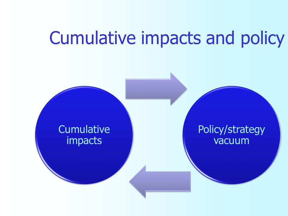 Cumulative impacts and policy