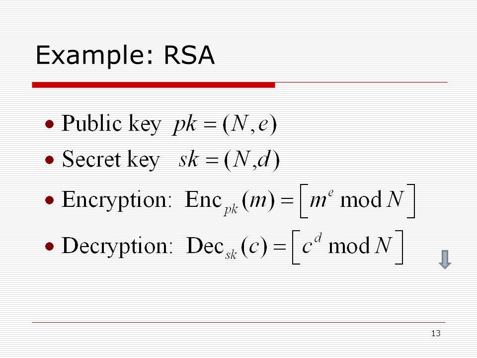 13 Example: RSA