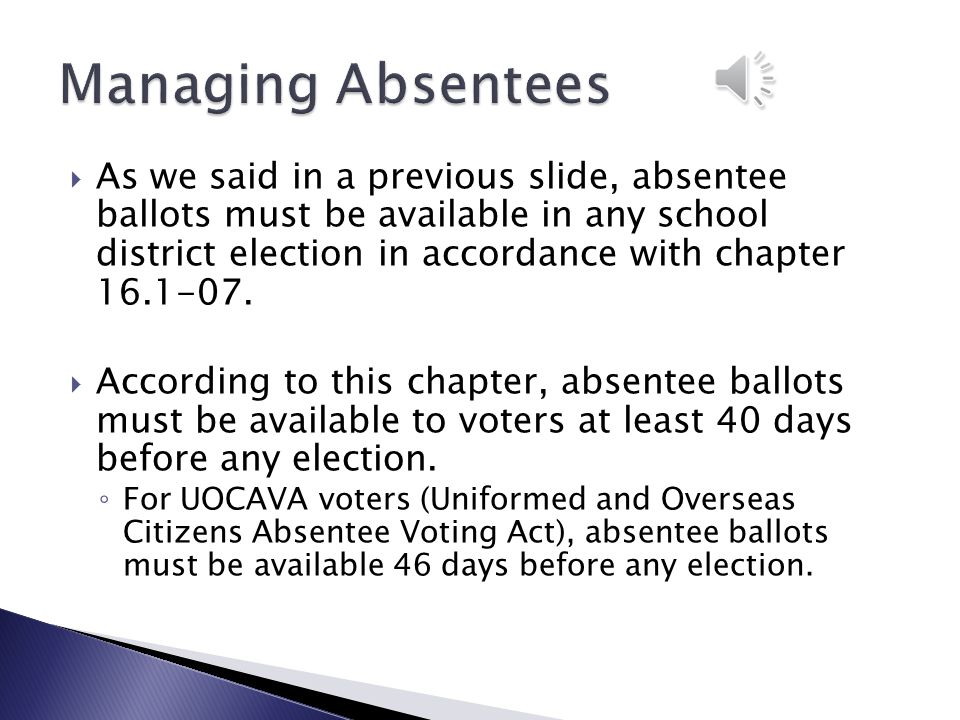  Measures on the ballot ◦ Every two years, at the time of a school districts' annual election of board members, the electors of the district shall determine whether a record of the board proceedings must be published in the official newspaper of the district…..A vote to approve the publication is effective for a period of two years or until disapproved at a succeeding school district election.