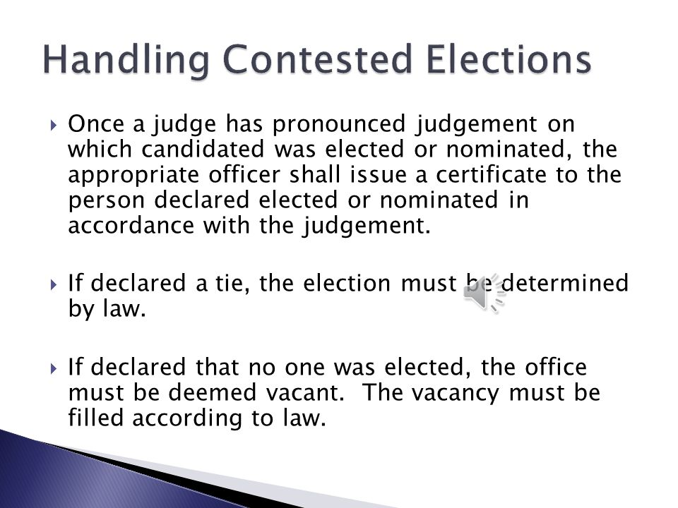  Election contest actions must be tried as civil actions to the court without a jury.