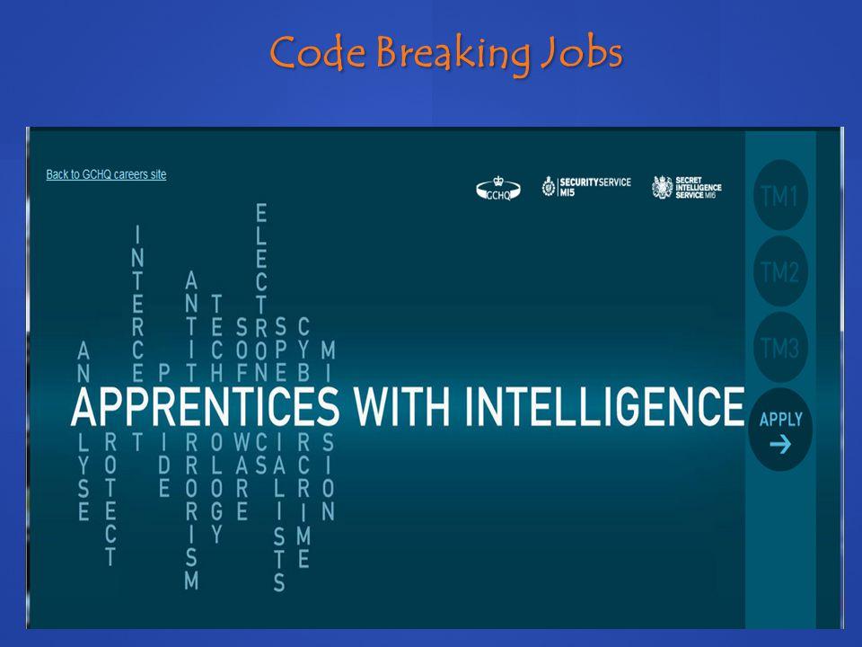 Code Breaking Jobs