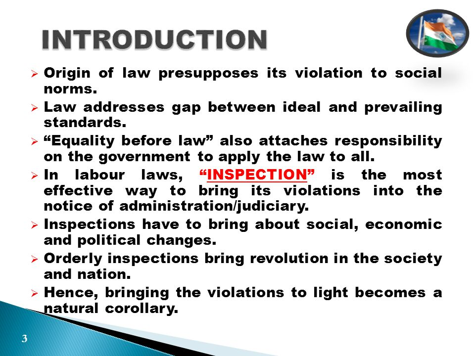  PG Act  Complaint as well as inspection- based legislation, the number of inspections conducted and claim applications received every year are approximately 1500 and 4500 respectively.