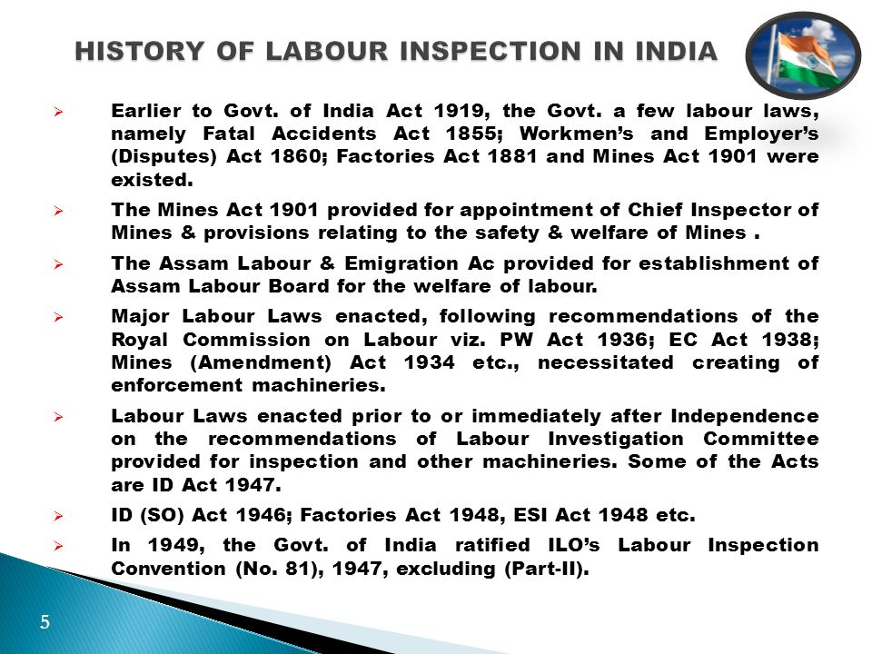  Regular inspection should be conducted at a time of the year when the establishment attains the peak period of employment.