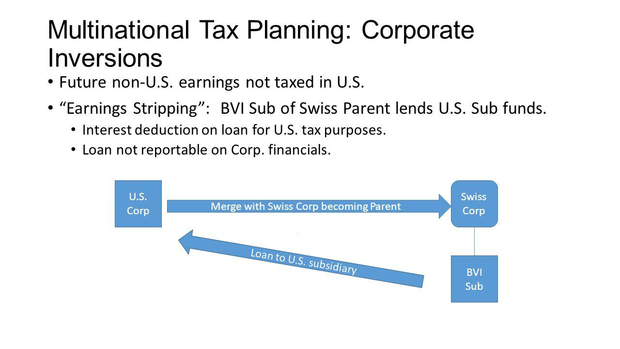 Multinational Tax Planning: Corporate Inversions Future non-U.S.