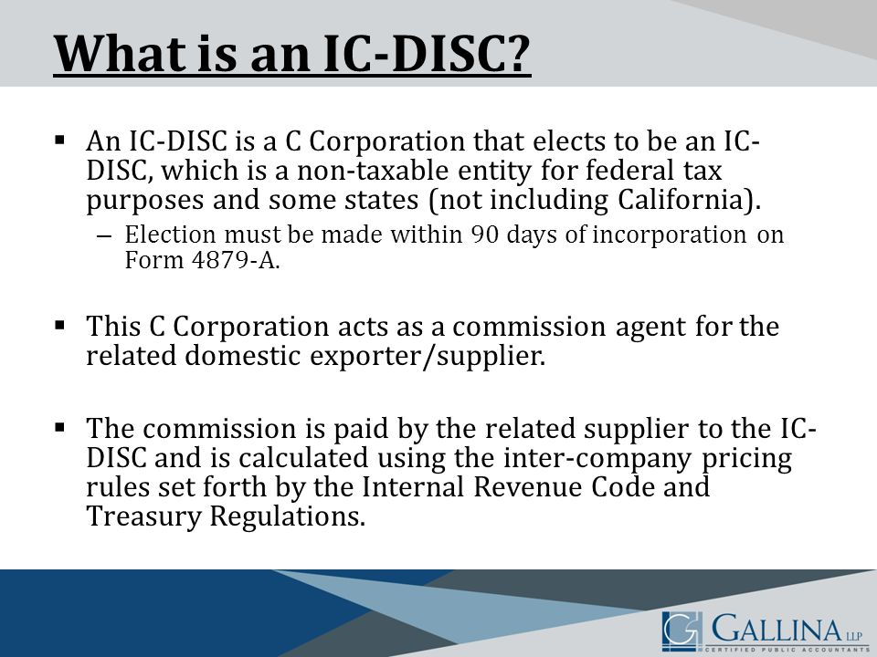 What is an IC-DISC.