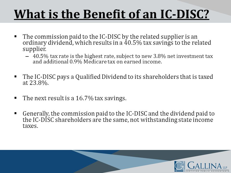 What is the Benefit of an IC-DISC.