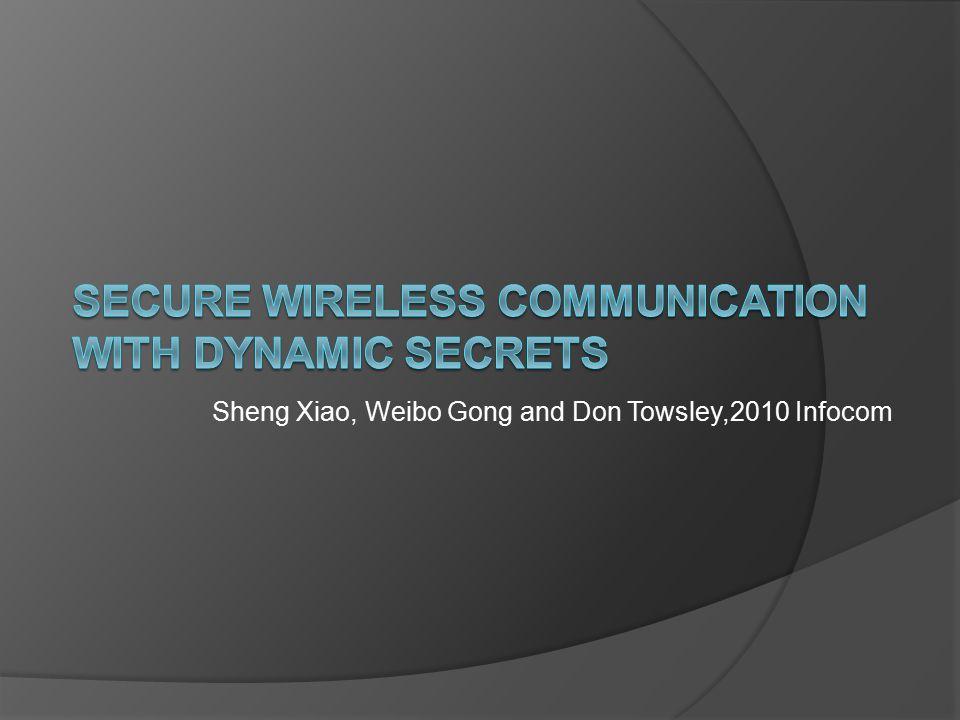 Sheng Xiao, Weibo Gong and Don Towsley,2010 Infocom