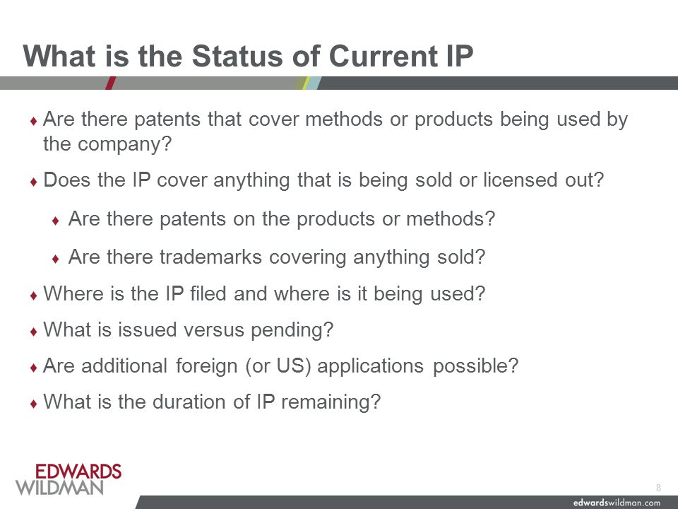 M & A/Investment Specific Issues ♦ Do the IP representations and warranties make sense.