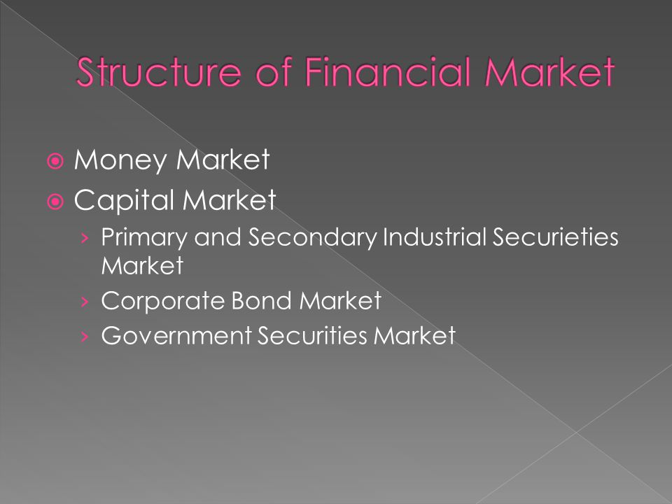  Money Market  Capital Market › Primary and Secondary Industrial Securieties Market › Corporate Bond Market › Government Securities Market
