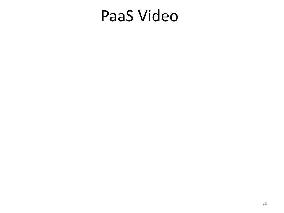 PaaS Video 16