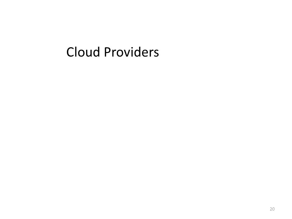 20 Cloud Providers