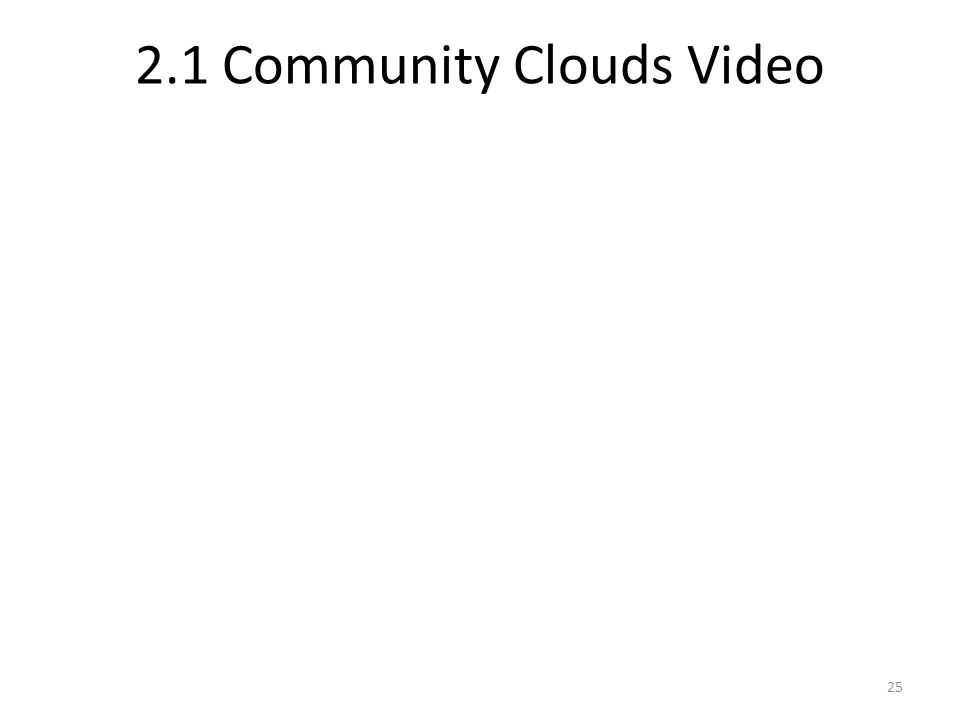 2.1 Community Clouds Video 25