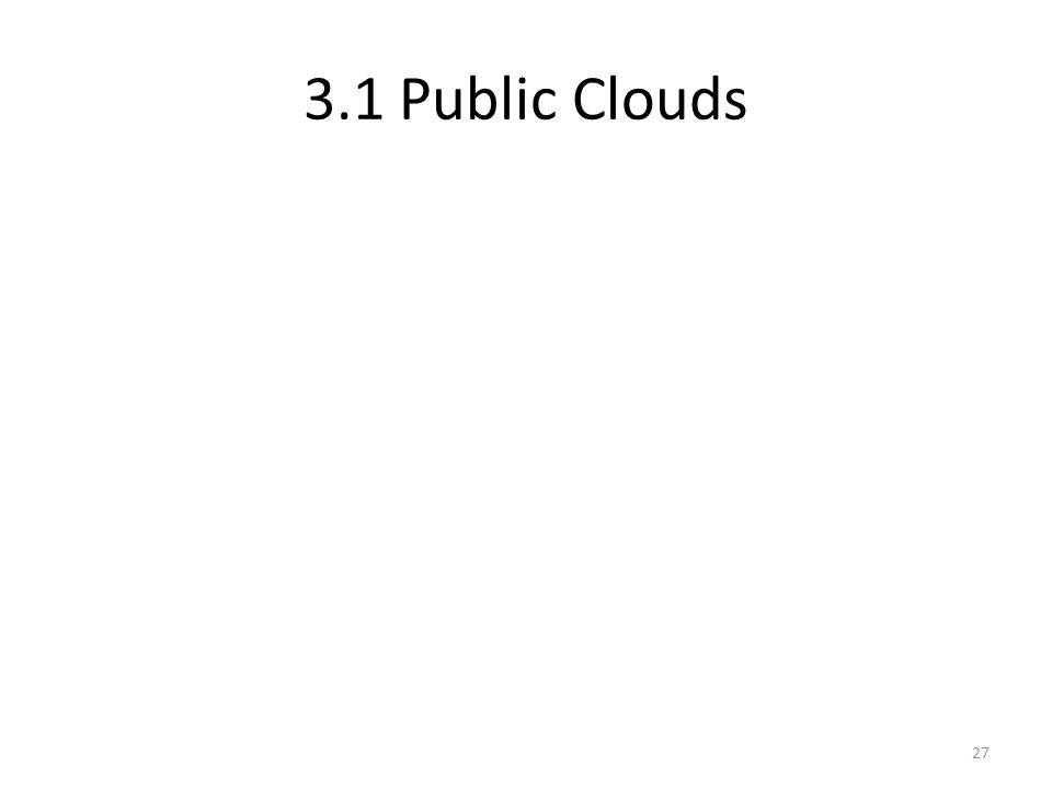 3.1 Public Clouds 27