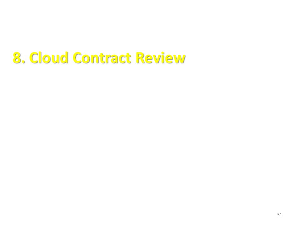8. Cloud Contract Review 51