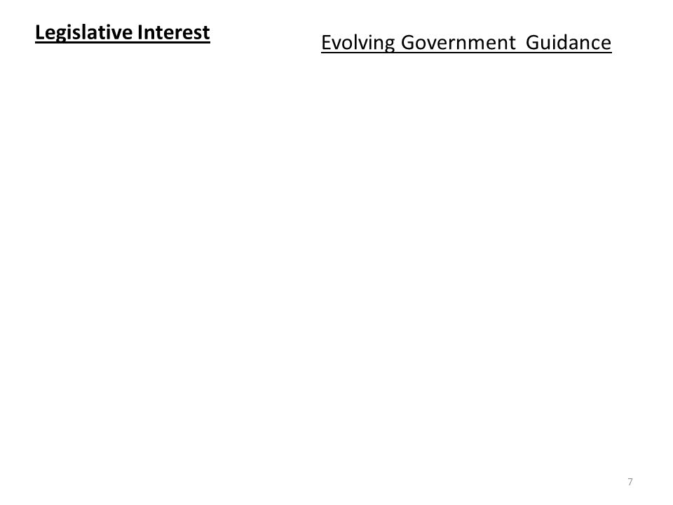 Evolving Government Guidance Legislative Interest 7