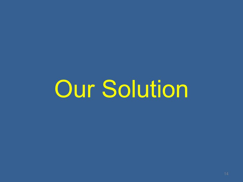 Our Solution 14