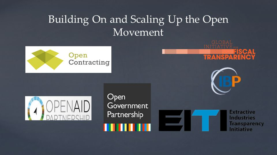 Building On and Scaling Up the Open Movement