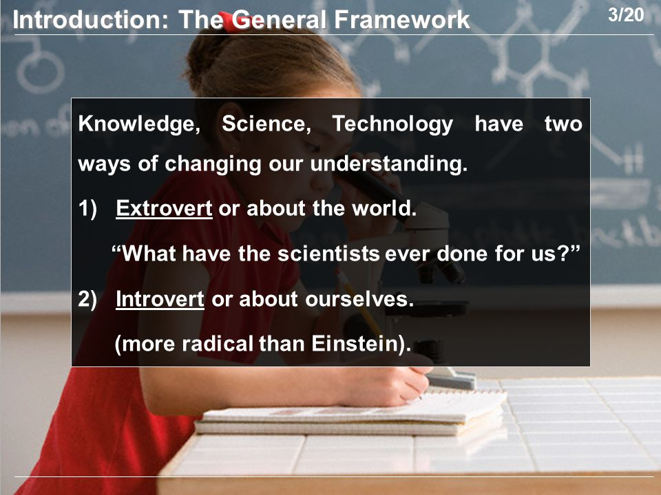 Knowledge, Science, Technology have two ways of changing our understanding.
