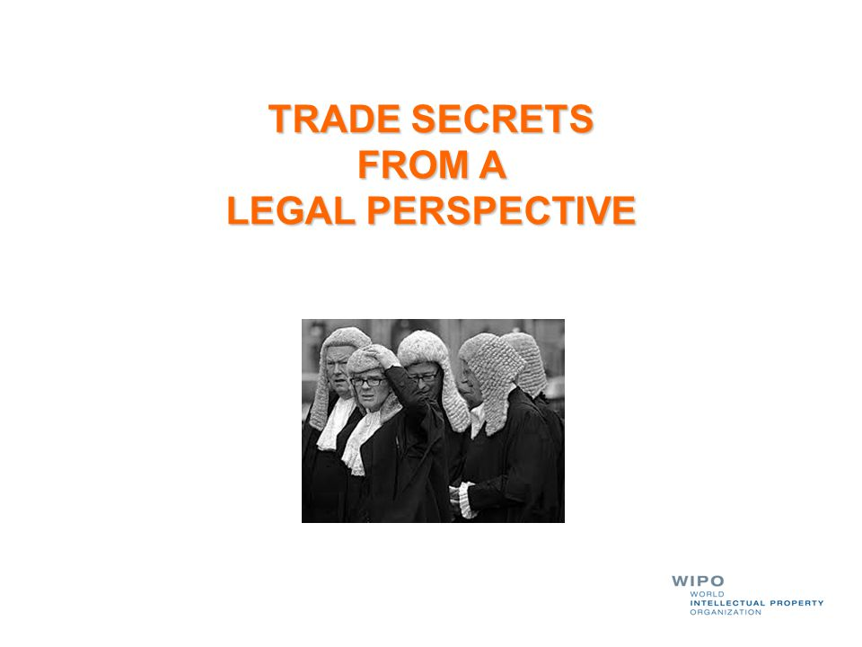 TRADE SECRETS FROM A LEGAL PERSPECTIVE