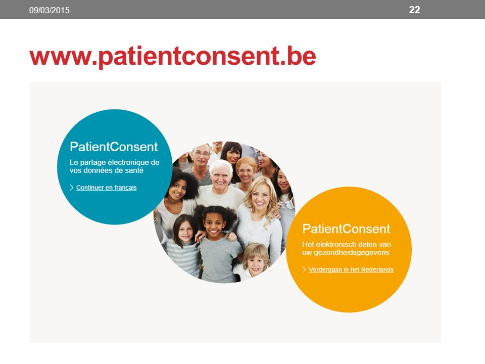 www.patientconsent.be 22 09/03/2015