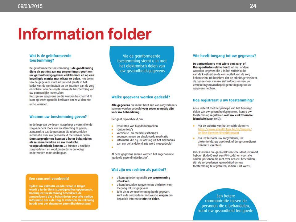 Information folder 24 09/03/2015