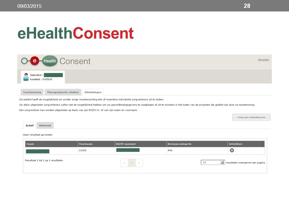 eHealthConsent 28 09/03/2015