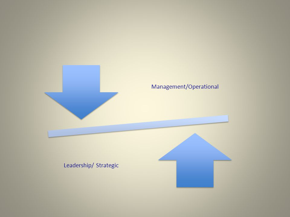 Management/Operational Leadership/ Strategic
