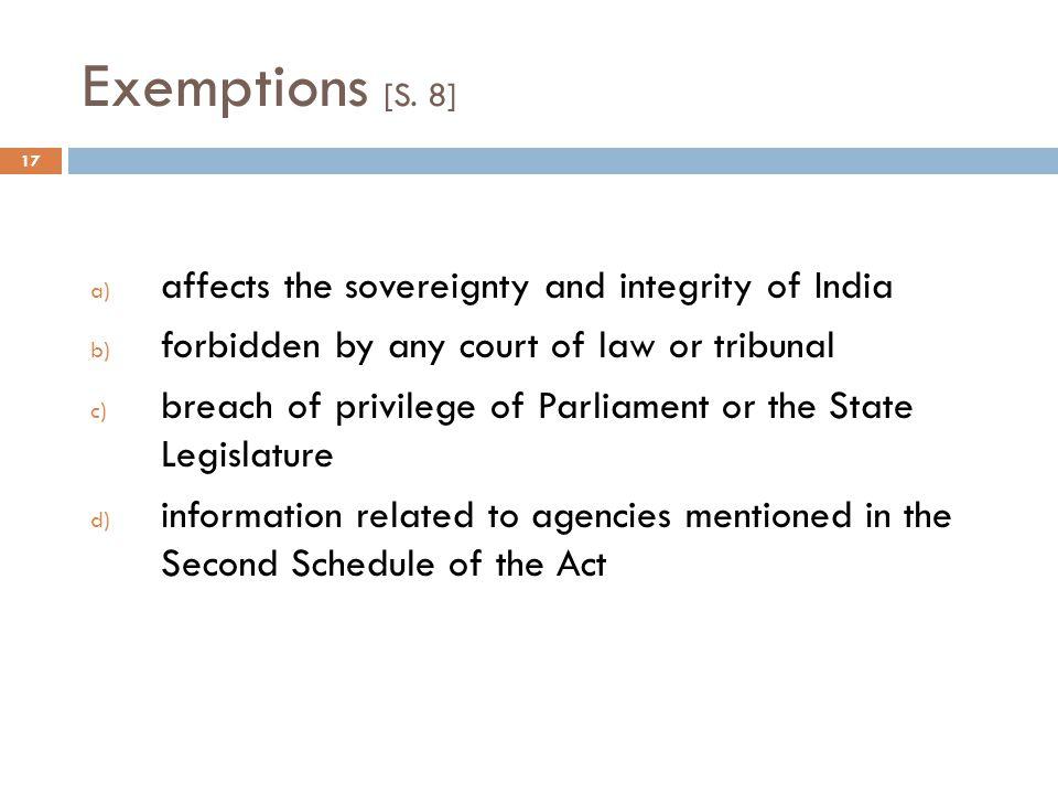 Exemptions [S.