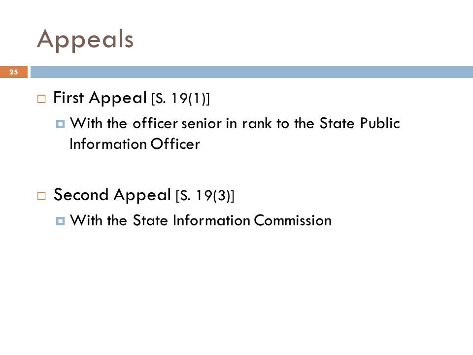 Appeals 25  First Appeal [S.