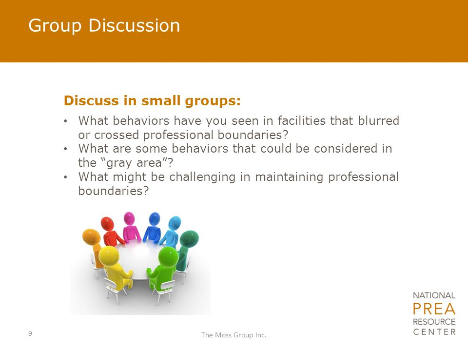 Group Discussion Discuss in small groups: What behaviors have you seen in facilities that blurred or crossed professional boundaries.