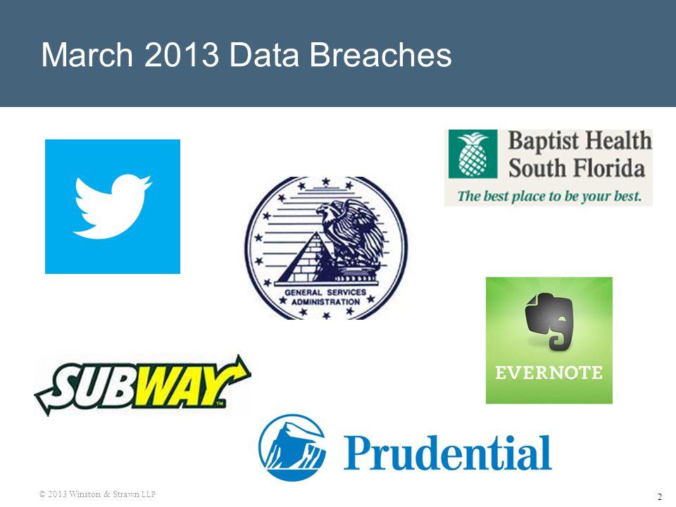 2 March 2013 Data Breaches