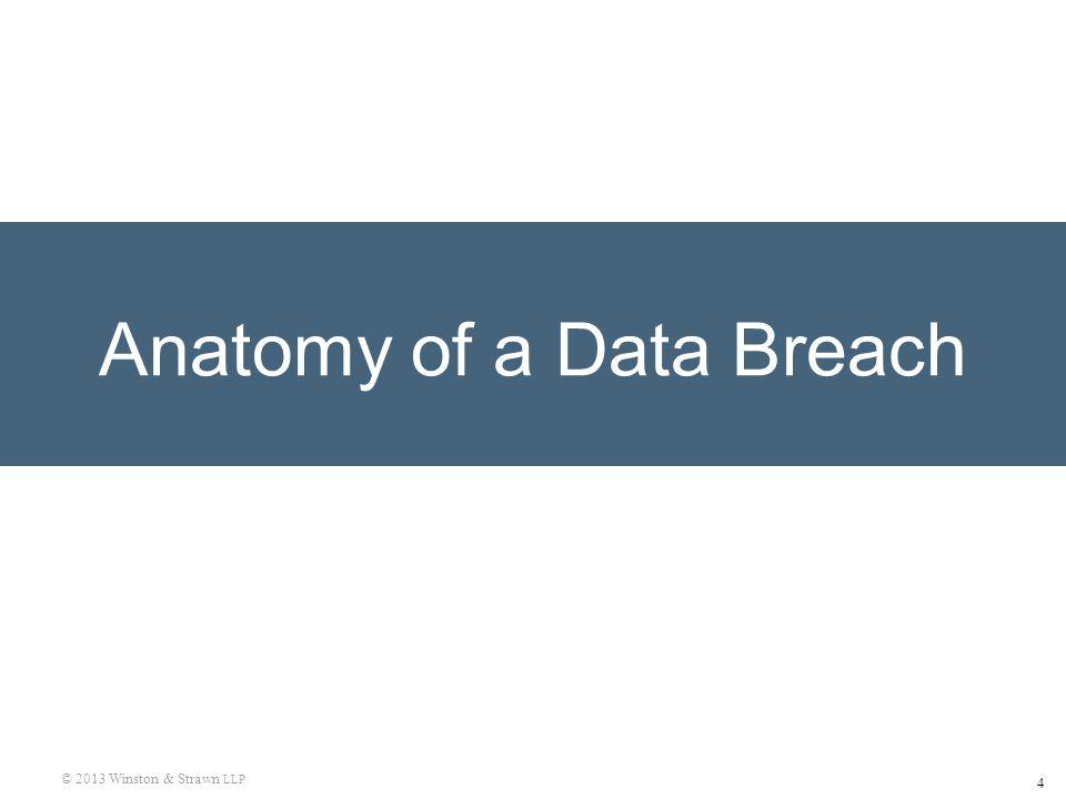 4 © 2013 Winston & Strawn LLP Anatomy of a Data Breach