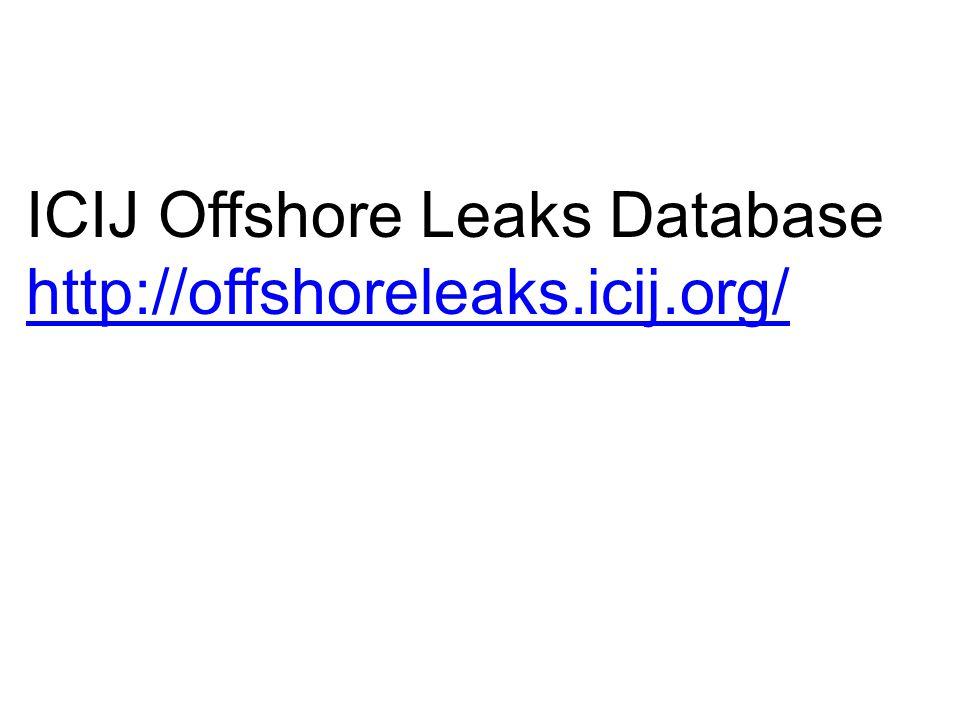 ICIJ Offshore Leaks Database http://offshoreleaks.icij.org/