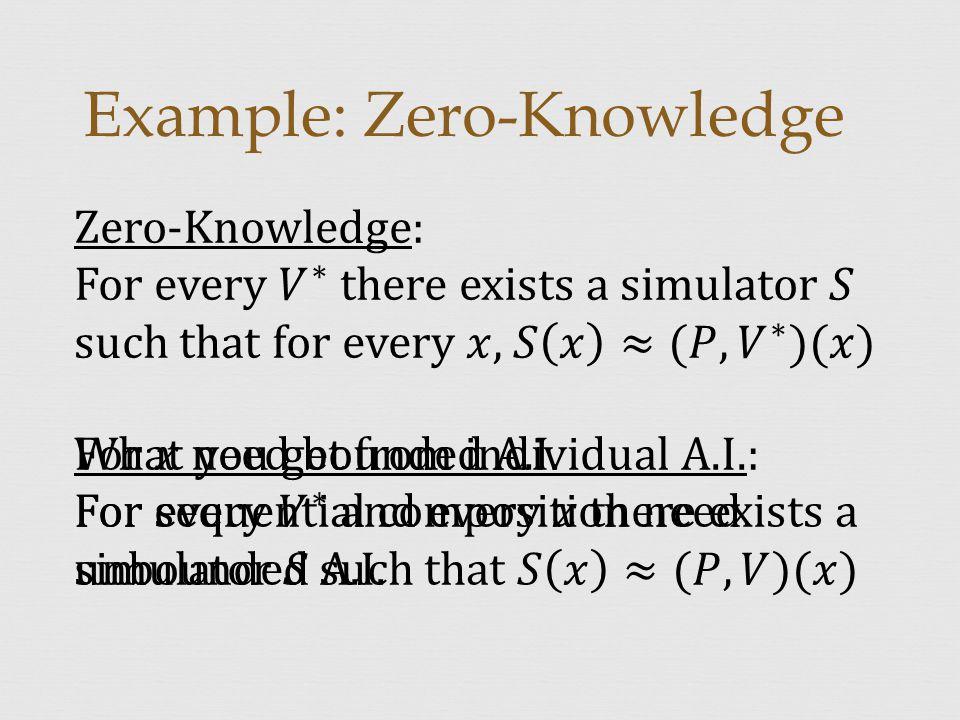 Example: Zero-Knowledge
