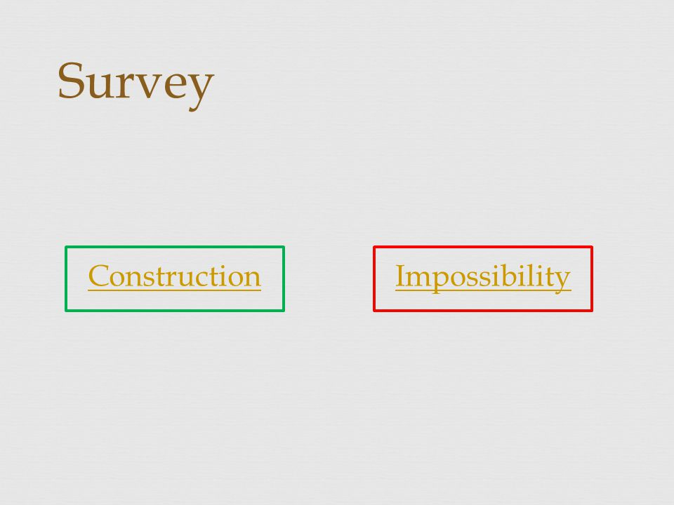 Construction Survey Impossibility