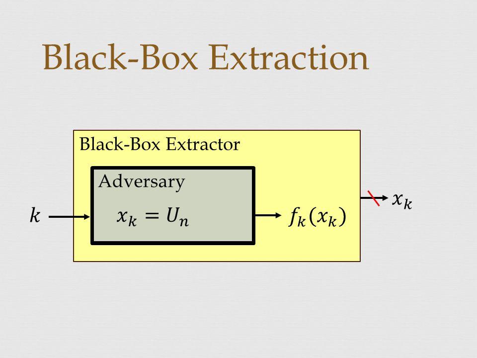 Black-Box Extraction Black-Box Extractor Adversary