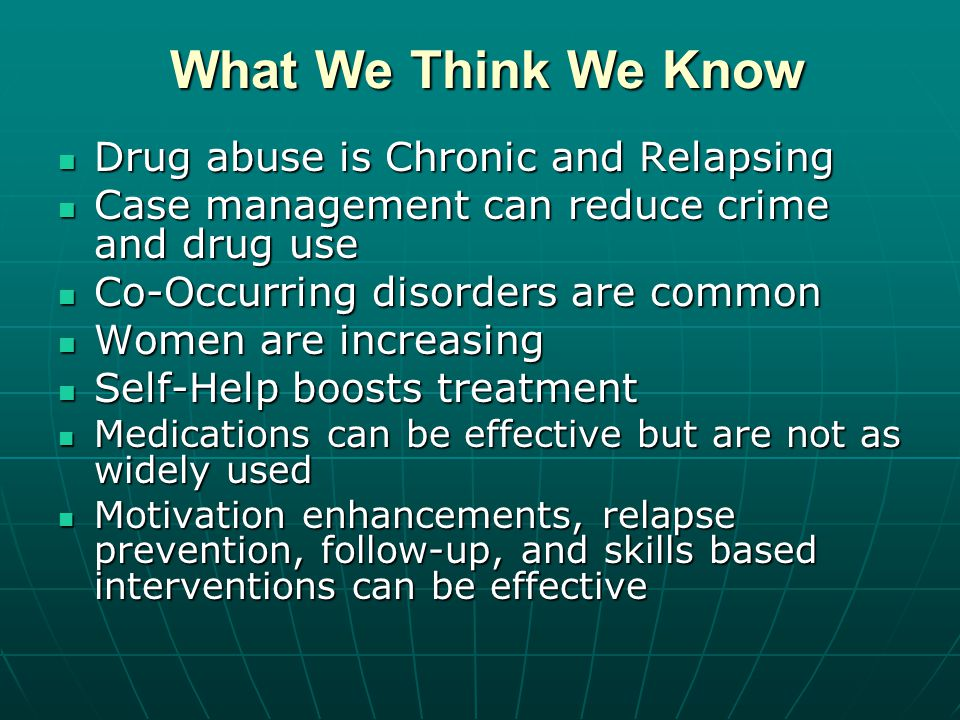 Coercion Works Treatment does not need to be voluntary to be effective.